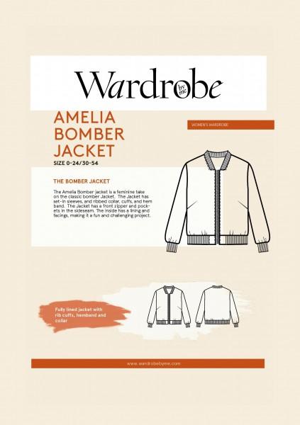 Amelia Bomber Jacket, Papierschnitt,Wardrobe by me,Deckblatt