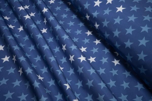 Softshell Nano Sterne weiß hellblau auf blau