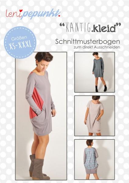 85 KANTIG.kleid,Papierschnitt,Leni Pepunkt,Deckblatt mit Beispielbildern von Frauen Kleid