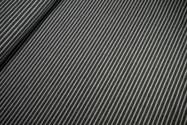 Jersey Streifen hellgrau dunkelgrau Baumwoll Jersey meliert