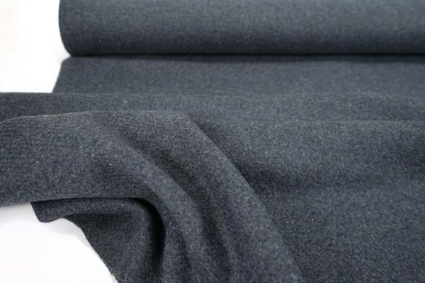 Wollstoff • Jacken- und Mantelstoff • Reine Wolle • stahlblau