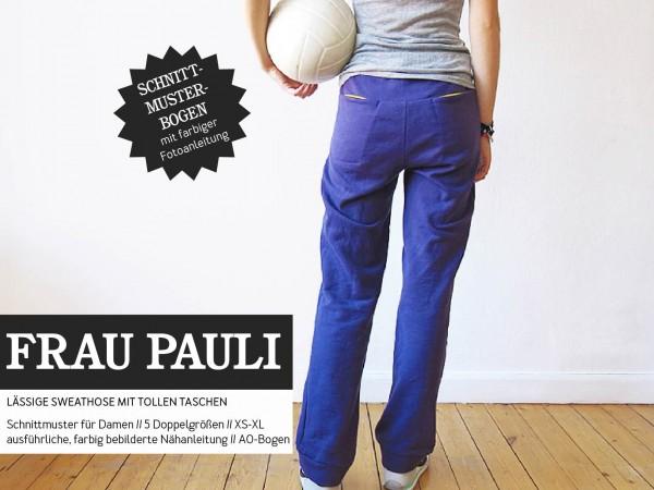 FRAU PAULI • Sweathose, Papierschnitt, Deckblatt