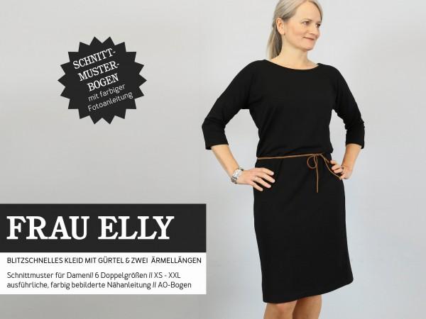 FRAU ELLY • blitzschnelles Kleid mit Gürtel, Papierschnitt, Deckblatt