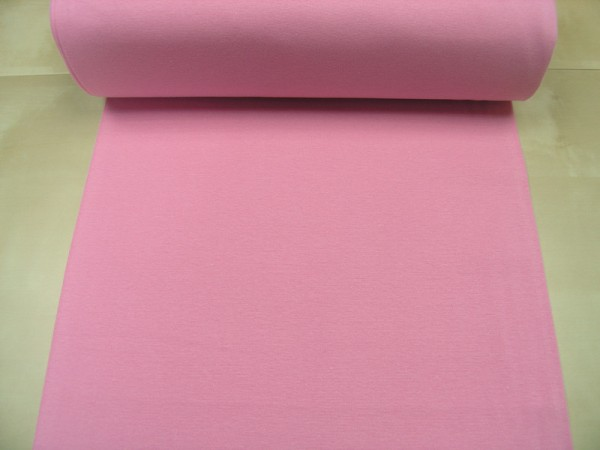 Bündchen glatt uni hell rosa