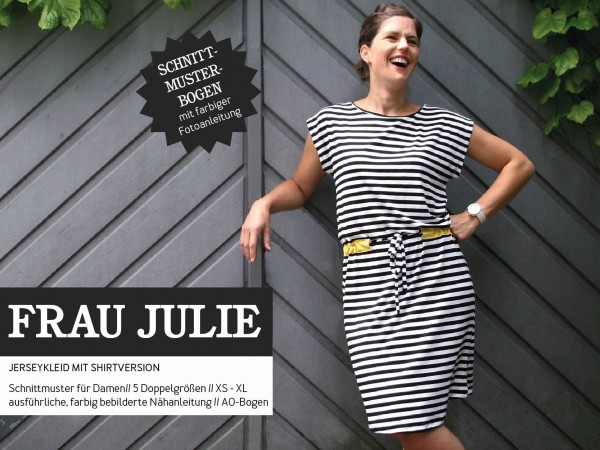 FRAU JULIE • Jerseykleid & Shirt, Papierschnitt