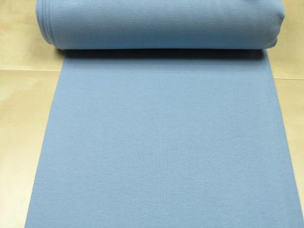 Bündchen glatt uni jeans blau