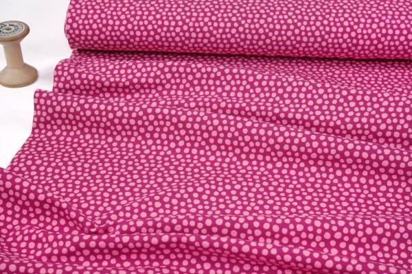 Bio-Baumwolljersey • Dots • rosa auf dunkelpink
