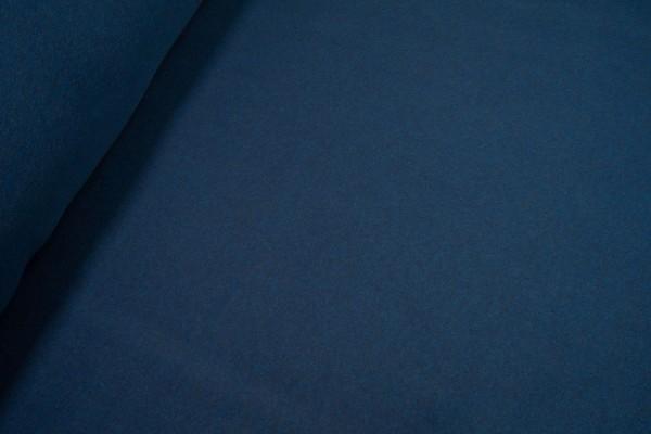 Baumwollfleece uni dunkelblau