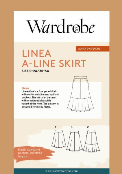LINEA A-LINE SKIRT, Papierschnitt,Waredrobe by me,Deckblatt
