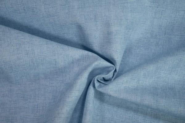 Baumwollstoff Druck hellblau
