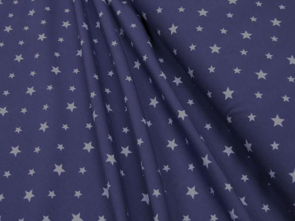 Jersey Little Darling Sterne hell-lila auf violett