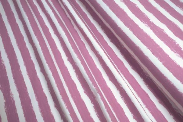 BIO-Sweat French Terry Stoffonkel aufgeraut Mellow Stripes vintage rose