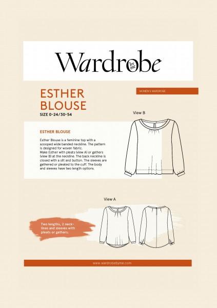 Esther Blouse,Papierschnitt,Wardrobe by me,Deckblatt