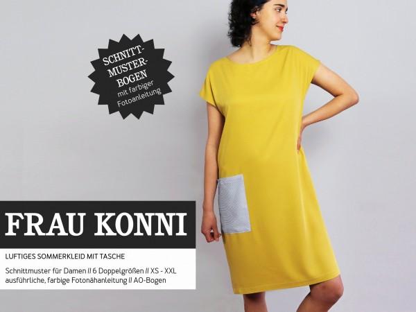 FRAU KONNI • luftiges Sommerkleid mit Tasche, Papierschnitt, Deckblatt