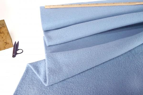 Gekochte Wolle Walkloden babyblau