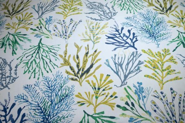 Clarke & Clarke Canvas Coral Seaweed Meeresalgen Baumwollstoff