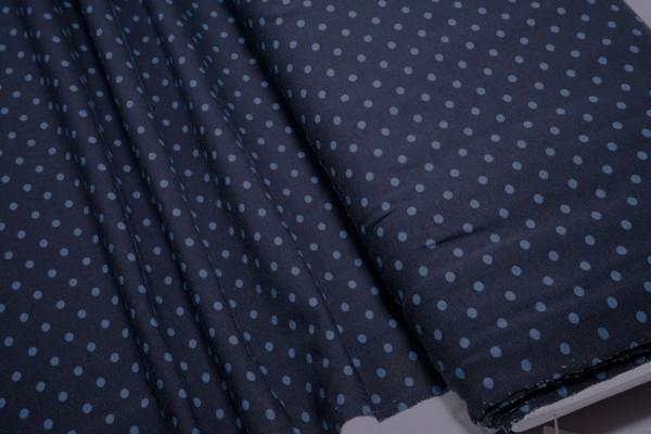 Jersey Little Darling blaue Punkte auf dunkelblau