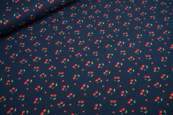 Jersey Stenzo Wild Cherry Kirschen all over auf dunkelblau