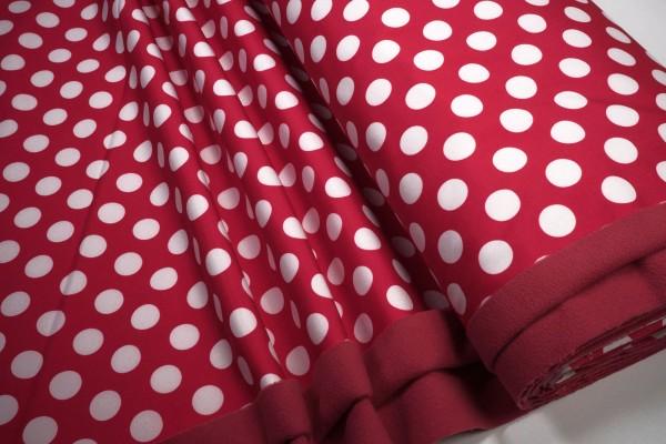 Softshell große weiße Punkte auf rot