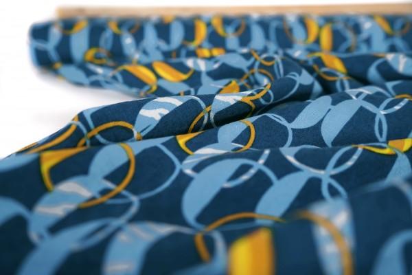 Viskose Kettenringe dunkelblau by Milliblu's