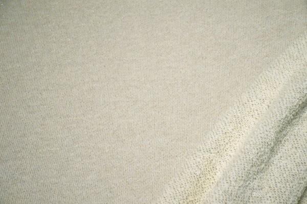 Lurex Sweatstoff beige Glitzer