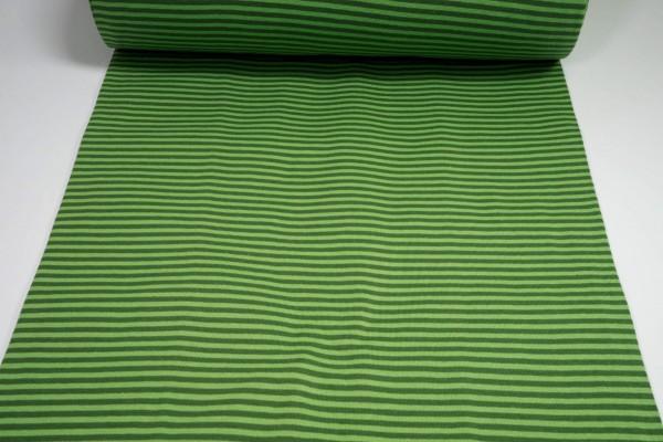Bündchen glatt gestreift kiwi grün