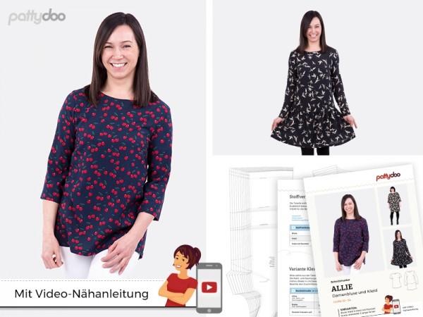 Damenbluse und Kleid Allie • Papierschnittmuster • by Pattydoo