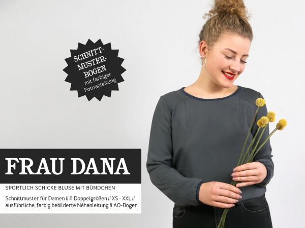 FRAU DANA Bluse mit Halslochbündchen, Papierschnitt,Deckblatt