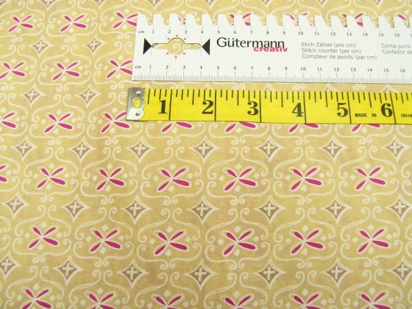 Clothworks Wild Wonder light gold medium geo Baumwoll Stoff