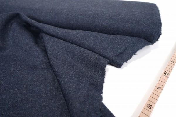 Shetlandtweed • Faux uni • nachtblau
