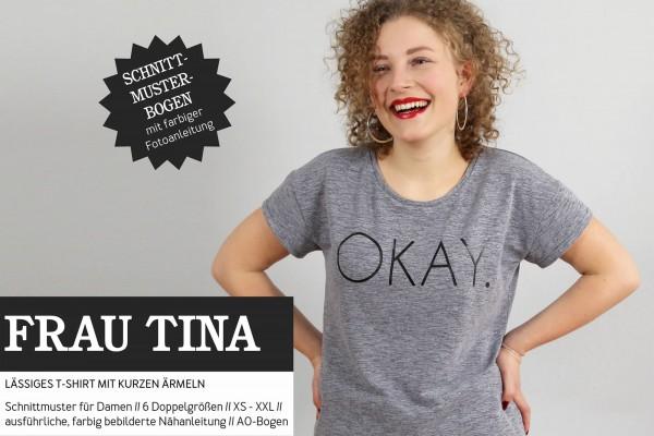 FRAU TINA • Lässiges Basicshirt • Papierschnitt
