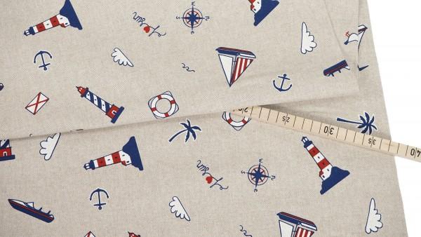 Dekostoff • Sailing away • beige