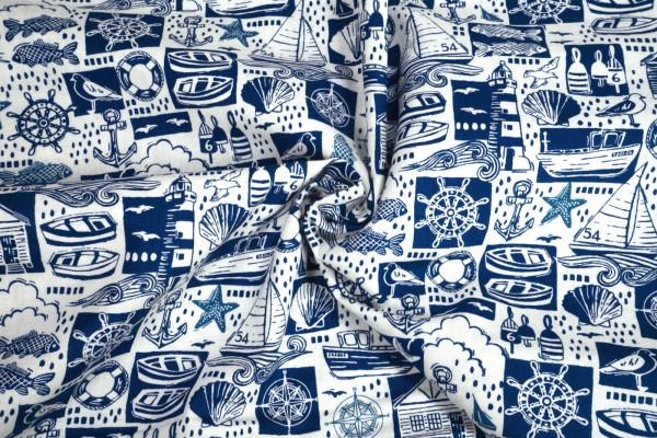 makower Sail away Montage blue 2212 B