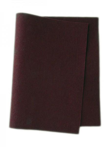 Wollfilz dunkelrot • 100 % reine Wolle