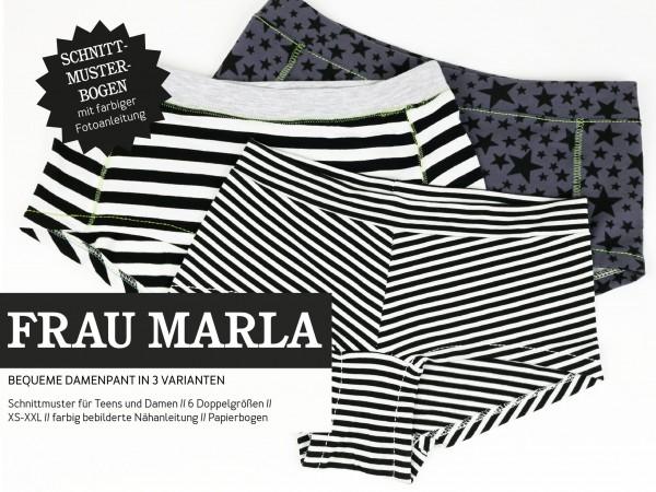 FRAU MARLA • Damenpants, Papierschnitt, Deckblatt