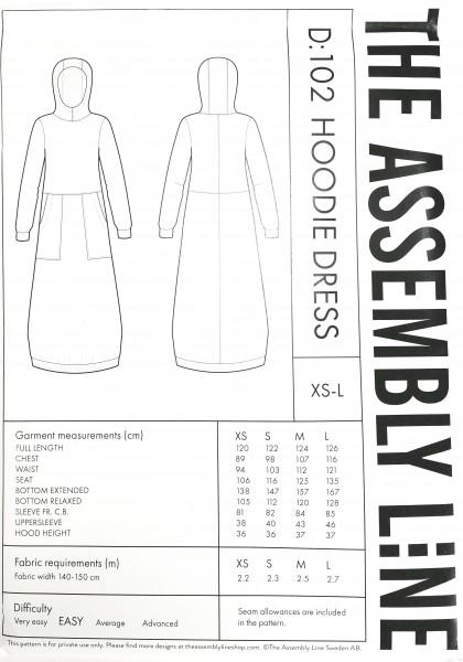 HOODIE DRESS PATTERN, Papierschnitt, Deckblatt