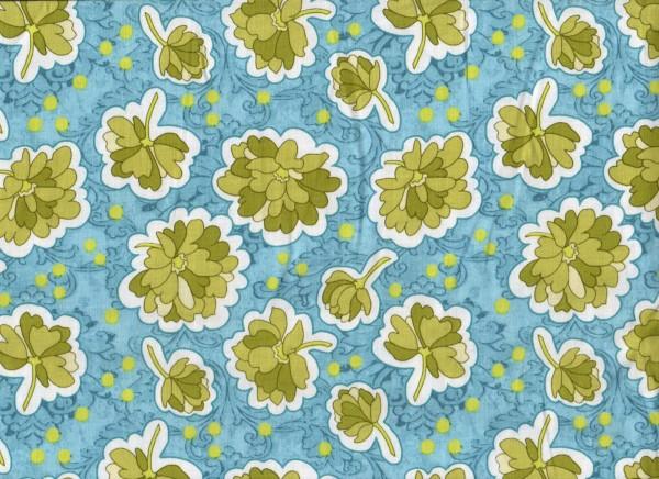 Riley Blake • Bohemian Festival • Floral in Blue • Baumwollstoff