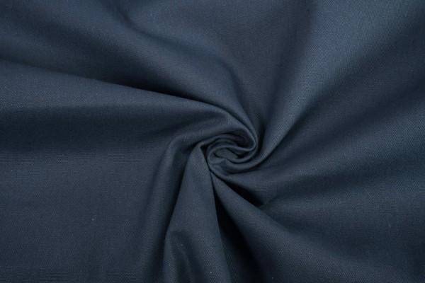 Deko-Stoff uni dunkelblau Baumwollstoff