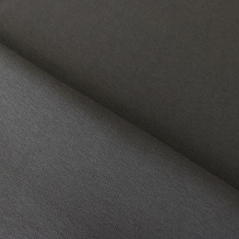 Bündchen glatt uni dunkel grau