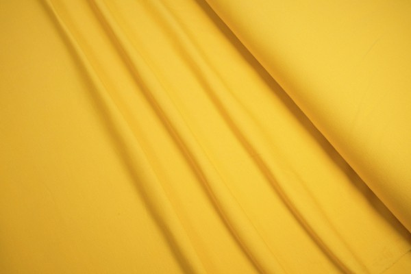 Baumwoll Jersey uni dunkel gelb