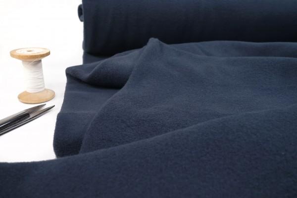 BIO Baumwollfleece uni dunkelblau