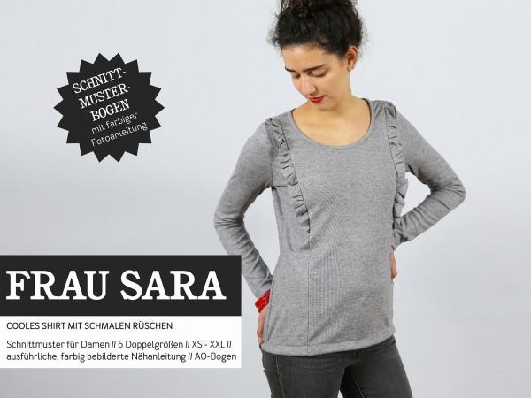FRAU SARA • Rüschenshirt, Papierschnitt, Deckblatt