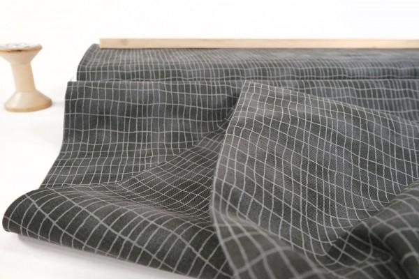 Quilters Combination • Gitterlinien auf graugrün