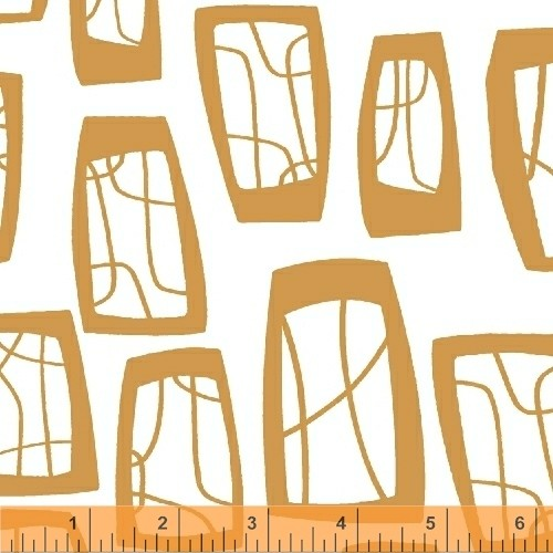 Lotta Jansdotter • Glimma • Soba • orange Baumwollstoff