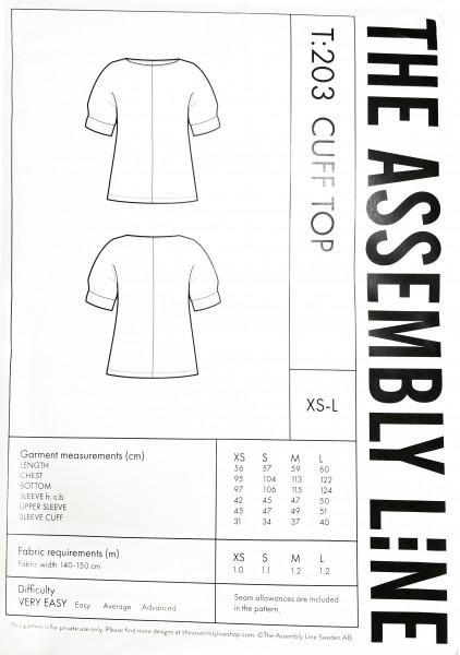 CUFF TOP PATTERN,Papierschnitt,The Assembly Line,Deckblatt