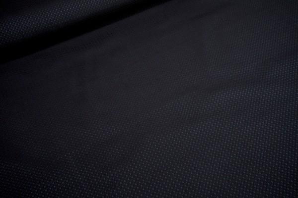 Jacquard elastisch blaue mini Kreise auf schwarz