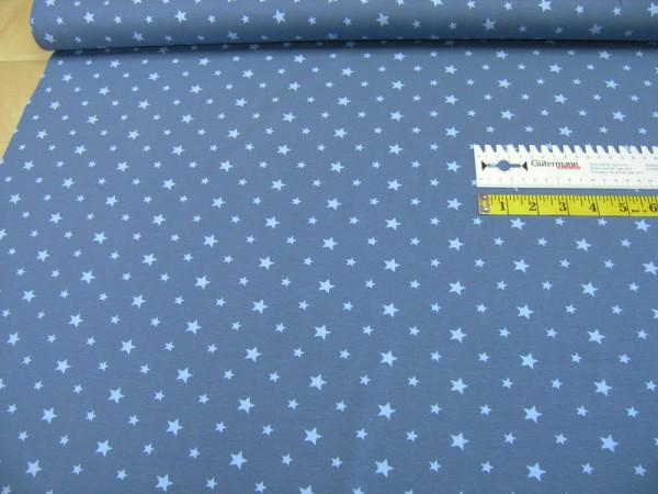 Jersey Sterne hellblau auf blau Baumwoll Jersey