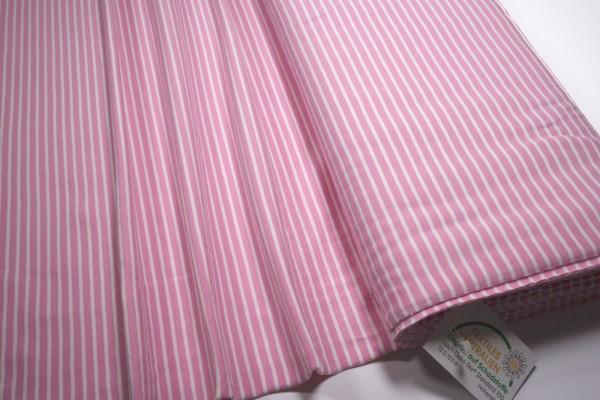 Jersey Little Darling rosa weiß gestreift