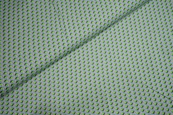 Viskose dunkelgrüne grasgrüne Kreise auf hellgrün