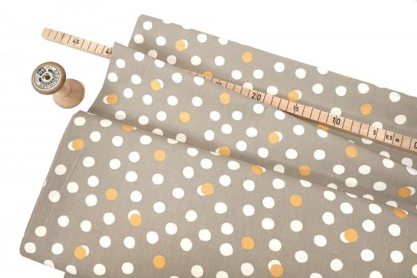 Birch Fabrics Tonoshi Mochi Dot Shroom Metallic Gold